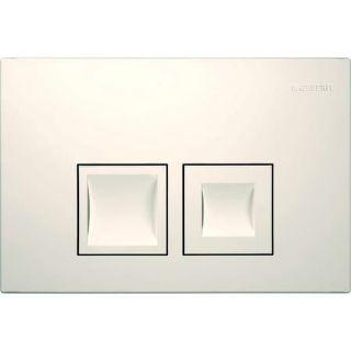 """Изображение Geberit 115.135.11.1 Смывная клавиша """"Delta 50"""", двойной смыв, пластик, белый"""
