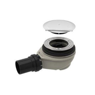 Изображение Geberit 150.551.21.1 Сифон для душевого поддона d90, высота гидрозатвора 50 мм, c крышкой сливного отверстия, d50 мм PE-HD, хром глянцевый