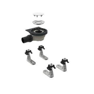 Зображення Geberit 154.010.00.1 Сифон для душових піддонів з 4 ніжками, до душового піддону Geberit Setaplano, висота гідрозатвори 50 мм