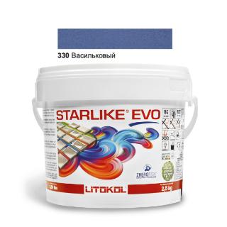 Изображение Эпоксидная затирочная смесь Litokol Starlike Evo, STEVOBAV02.5, Васильковый - 320, 2.5 кг