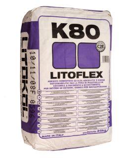 Зображення Клей Litokol Litoflex Pro K80 (K80PROG0020) на цементній основі, 20 кг (сірий)