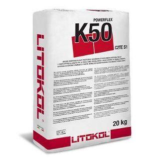 Зображення Клей Litokol Powerflex K50 (K50B0020) на цементній основі, 20 кг (білий)
