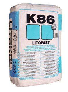 Зображення Клей Litokol Litofast K86 (K860020) на цементній основі, швидкого схоплювання 20 кг (сірий)