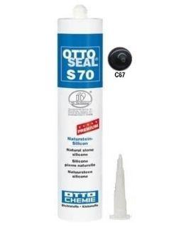 Зображення Герметик силіконовий Litokol OTTOSEAL S70 С67 (8NTRANT0201), 310 мл (антрацит)