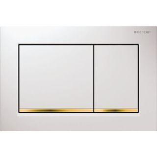 Изображение Geberit 115.080.KK.1Omega30, для двойного смыва: белые, позолота