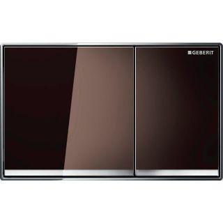 Изображение Geberit 115.081.SQ.1 Omega60, двойной смыв, заподлицо умбра, зеркальное покрытие, глянцевый хром