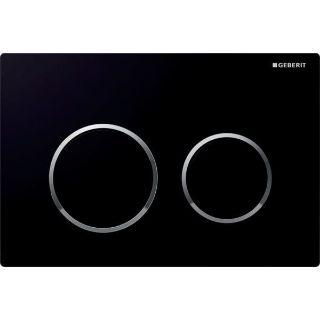 Изображение Geberit 115.085.KM.1 Omega20, для двойного смыва черные, глянцевый хром