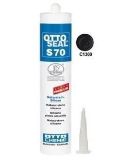 Зображення Герметик силіконовий Litokol OTTOSEAL S70 С1300 (8NTRAPL0201), 310 мл (антрацит матовий)