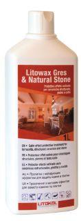 Изображение Защитная пропитка Litokol Litowax Gres & Natural Stone (LTWGNS0121), с матирующим еффектом, 1 л