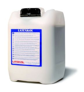 Изображение Добавка Litokol LATEXKOL (LTX0005), для цементных клеев, вододисперсионная, 5 кг