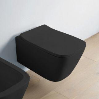 Зображення Унітаз підвісний безободковий з кришкою Artceram A16, чорний (ASV003 17; 00 + ASA001 17; 71)