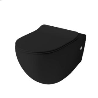 Зображення Унітаз підвісний безободковий з кришкою Artceram File 2.0, чорний матовий (FLV004 17; 30 + FLA014; 17)