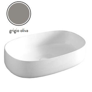 Зображення Умивальник накладний ArtCeram Cognac 55х35, grey olive (COL003 15; 00)