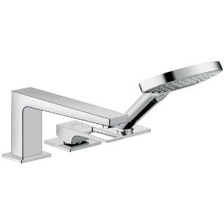 Зображення Змішувач на край ванни Hansgrohe Metropol ручка Loop Secuflex, хром (74550000)